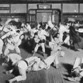 Randori al Kodokan ai primi del '900. I due maestri sono Yokoyama a sx e Mifune a dx.